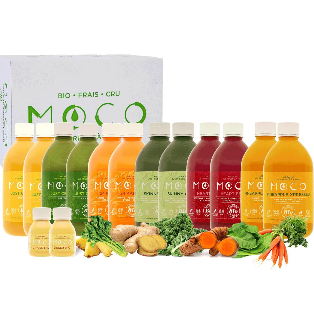Picture of intermediate juice cleanse box