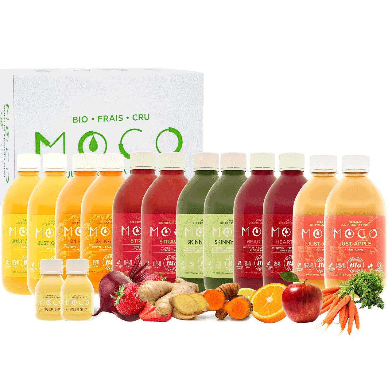 Beginner Cleanes juice pack content